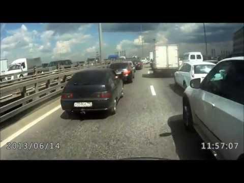 ДТП форд фокус подрезает мотоциклиста