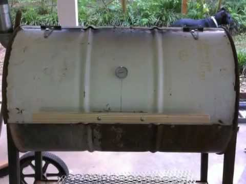 Grill from 55 gal drum / no welding