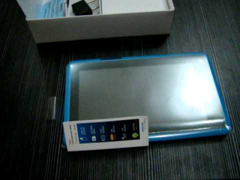 Philips T7 Color PI3000 tablet PC unboxing Review