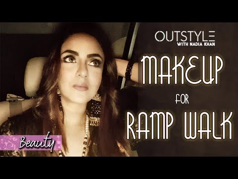 Celebrities | Makeup routine before Nadia Khan Ramp Walk | Depilex Fashion Show 2017 | Outstyle
