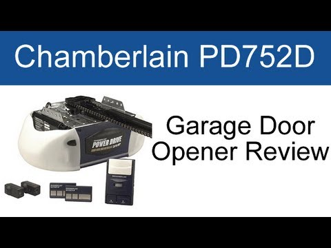 Chamberlain Pd752d Garage Door Opener Review Youtube
