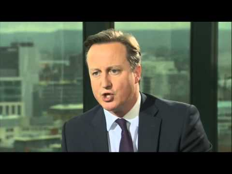 C4news: Theresa May immigration speech and David Cameron interview