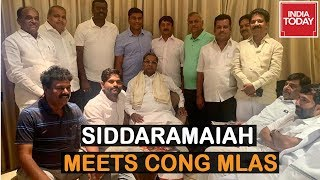 Siddaramaiah Meets Congress MLAs In Bengaluru