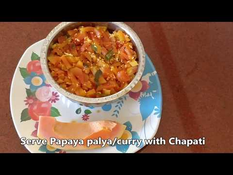Raw papaya palya | papaya curry | DeeRa's Tiffin