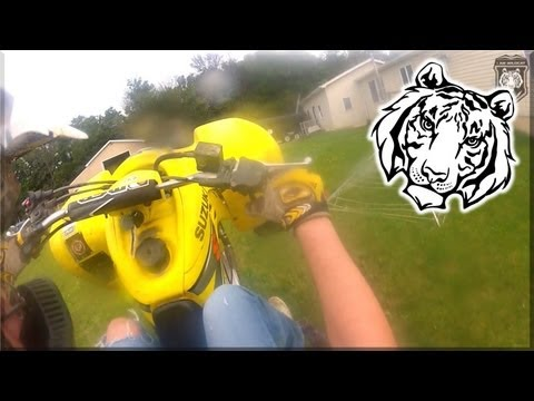 I Am Wildcat Helmet Cam Atv Riding    Ride Around My House    Atv Gopro Hd Hero2 Test