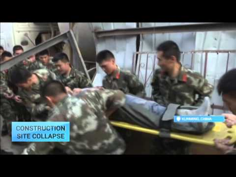 Construction Site Collapse: Building collapse in China kills one person and injures 35
