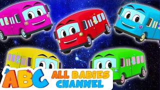 Wheels The Bus | Five Little Buses | Nursery Rhymes & Kids Songs | All Babies Channel