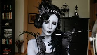 MAKEUP TUTORIAL: 1920's Great Gatsby Greyscale + Brow Blocking
