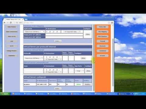 ip cam configurazione internet modem router host wifi telecom italy adsl