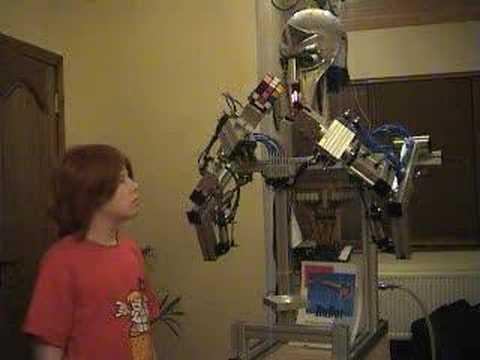 RuBot II - The Rubik's cube solving robot.