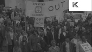1960s USA Anti Vietnam War Rally, Protest