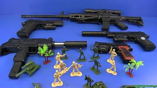 Box of Toys !!! Military Guns Toys & equipment - Toys for kids !