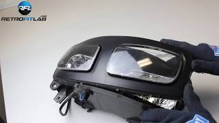 Yamaha FZS600 Fazer bad headlight fix (Bi-xenon projector kit), installation video