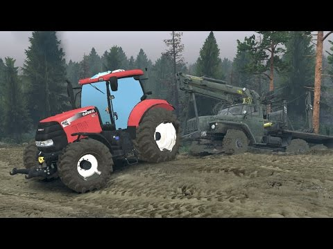 Spintires Mods - Case Tractor (using winch)