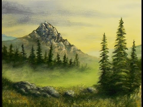 learn how to paint a mountain scene by acrylic artist brandon schaefer youtube. Black Bedroom Furniture Sets. Home Design Ideas