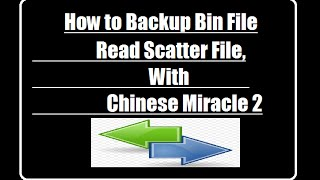 How to Backup Bin File,Read Scatter File, With CM2 Dongol,Chinese Miracle 2