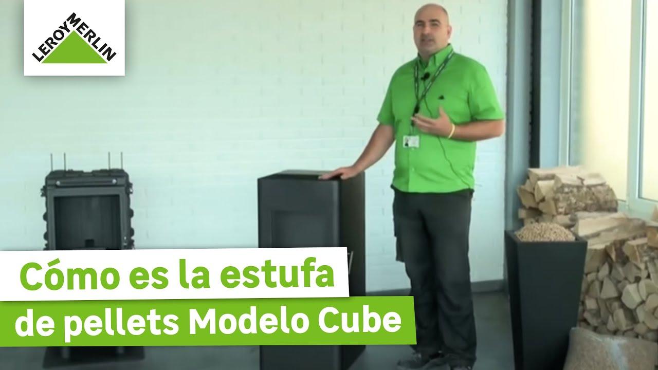 Estufa de pellets modelo cube leroy merlin youtube - Instalar una estufa de pellets ...