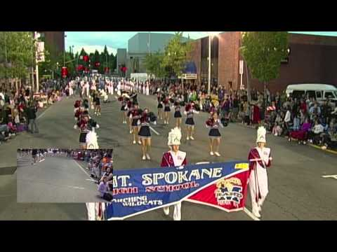 2014 Armed Forces Torchlight Parade - Mt. Spokane High School Marching Band