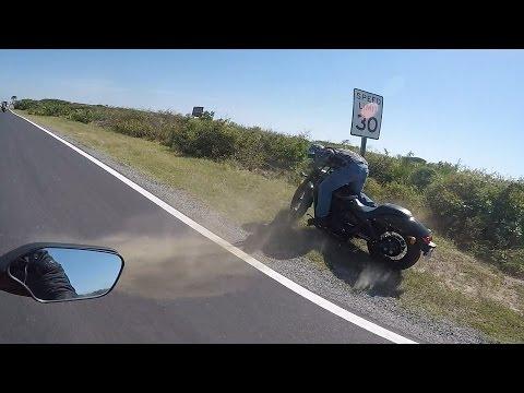 Motorcycle Crash - Bike Hits Speed Sign
