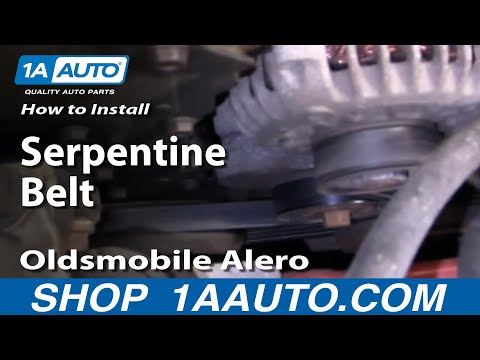 How To Install Replace Serpentine Belt Oldsmobile Alero 99-04 2.4L 1AAuto.com