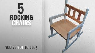 Top 10 Rocking Chairs [2018]: Child's Rocking Chair. White and Pine