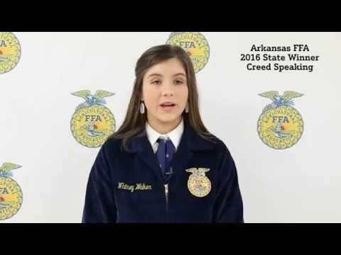 2016 Arkansas FFA - State Creed Speaking Winner
