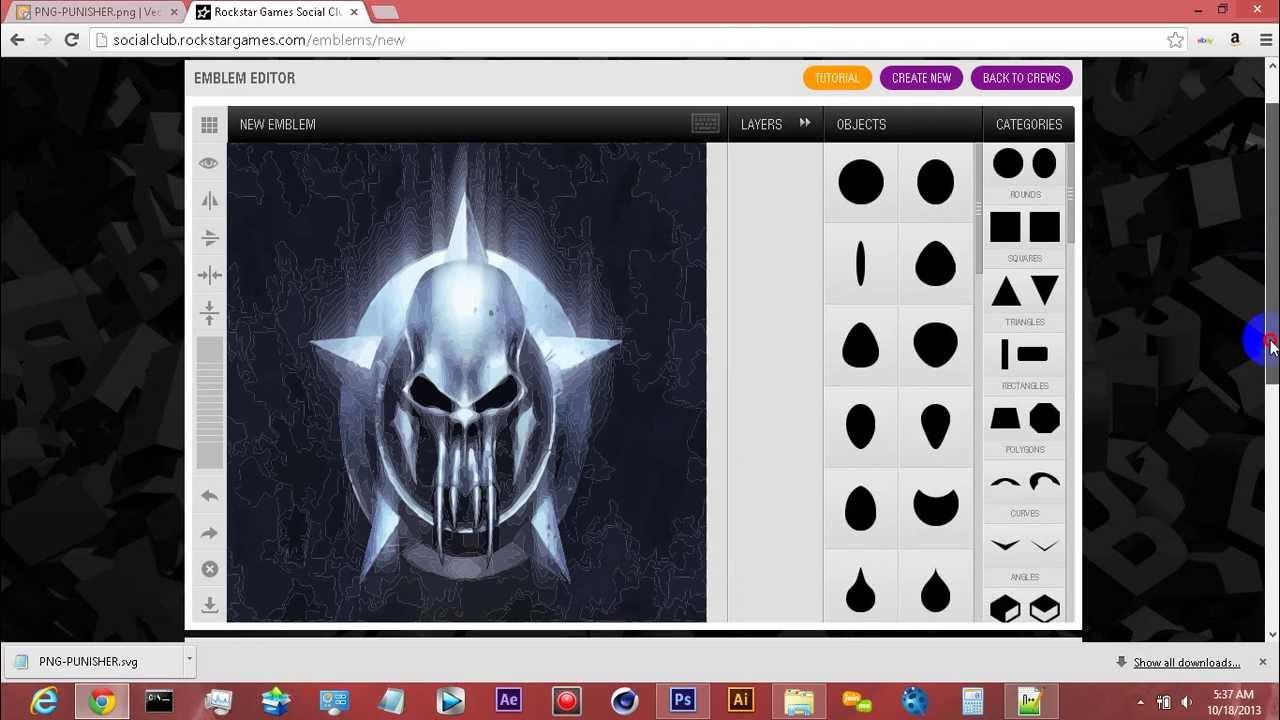 Crew Emblem Ideas Gta v Custom Crew Emblem