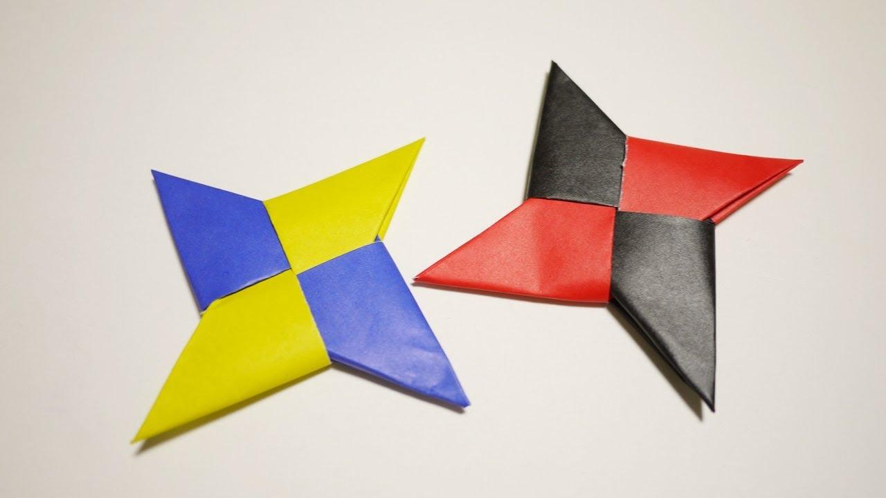 すべての折り紙 上級者 折り紙 : Ninja Star Origami Shuriken