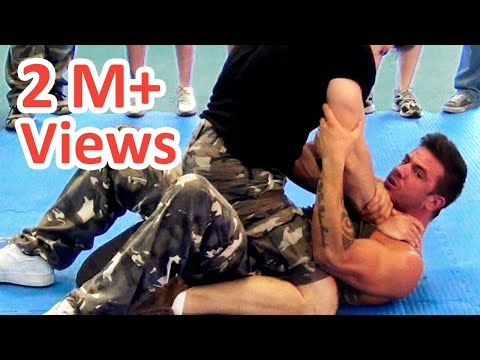 Krav maga ground technique. Full mount Choke defense. How to escape a full mount submission and choke. Starring: Luca Goffi � Brescia (Italy)