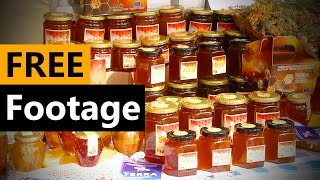 Bee Honey in jar - FREE Stock Video Footage [Download Full HD]