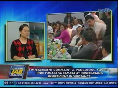3 impeachment complaint vs PNoy, di pumasa sa Kamara at idineklarang insufficient in substance