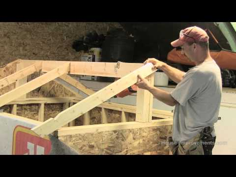How To Build A Shed - Part 3 Building & Installing Rafters