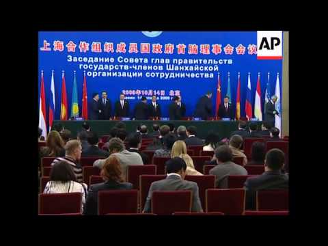 Leaders of Shanghai Cooperation Organisation nations meet