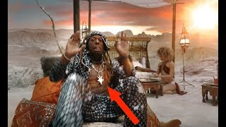 DON'T CRY LIL WAYNE! PROMOTING CANNIBALISM, PYRAMIDS AND HIS GOOD BUDDY THE BAPHOMET IN NEW VIDEO...