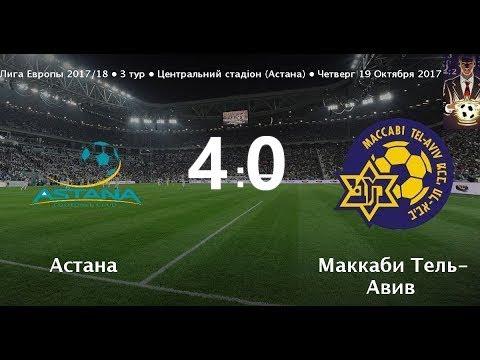 Астана Порвал Маккаби 4-0 Обзор Матча. 19.10.2017