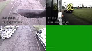 Shocking bin lorry CCTV shows reckless motorists driving on pavements in desperation to get past
