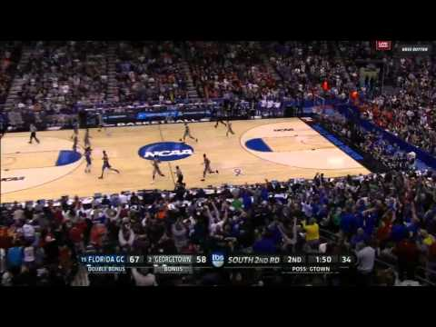 Florida Gulf Coast's Chase Fieler's alley-oop against Georgetown