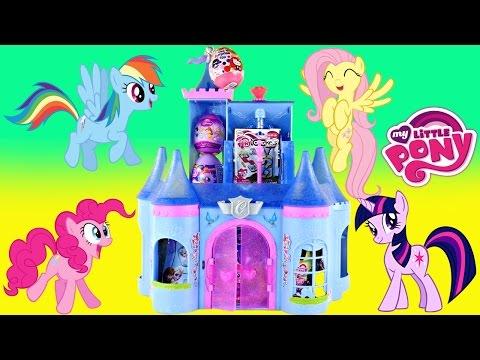 Surprise Egg Castle - Frozen Blind Bags My Little Pony Huevos Sorpresa Princesa De Disney Toys video