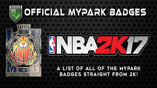 Official MyPark Badge List | NBA 2K17