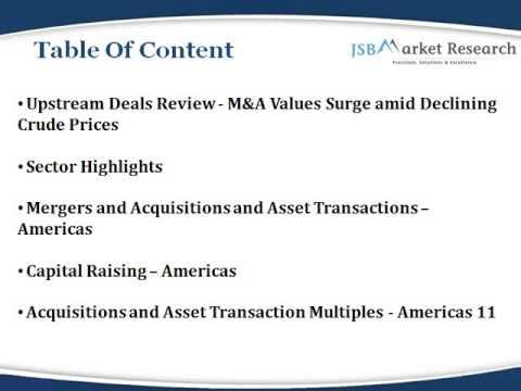Monthly Upstream Deals Review: JSBMarketResearch