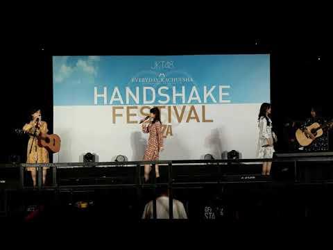 JKT48 Acoustic   Premiere Lantang (original song) in public @ HS Kachuusha-UZA