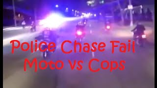 Funny Police Chase Fails (Motorcycle VS Police) - DDOF