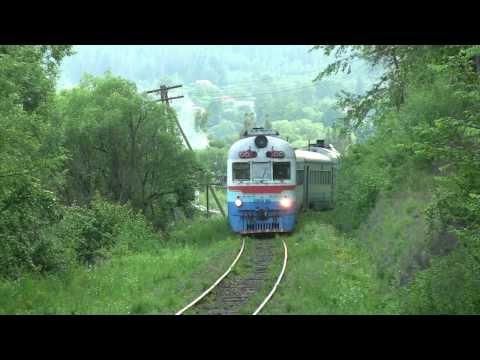 Дизель-поезд Д1-715 близ ст. Делятин / D1-715 near Deljatin station