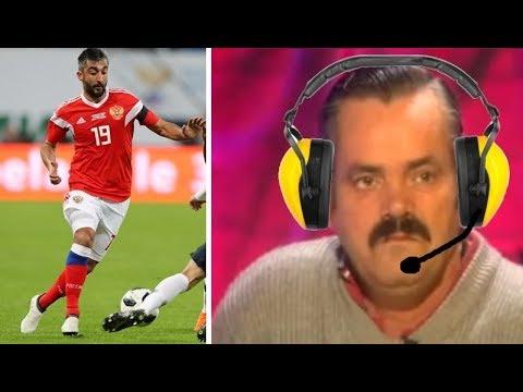 Испанец работает комментатором на матче сборной России