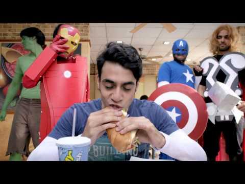 The Avengers at Subway
