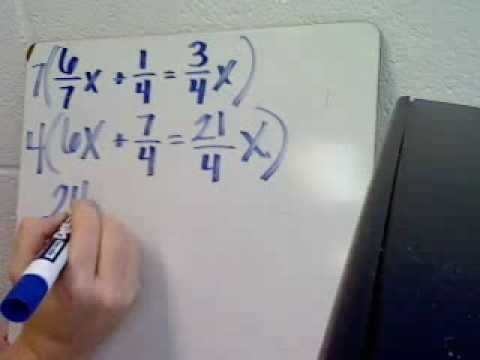 Solving Linear Equations Eliminating Fractions I