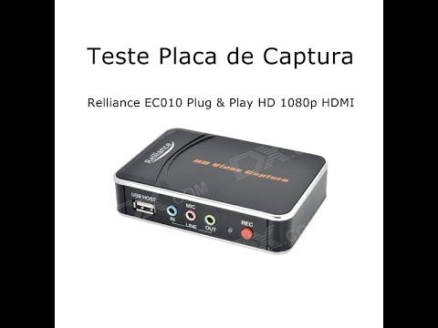 Teste Placa de Captura - Relliance EC010 HD 1080p (Placa de Captura HD da China - Dealextreme)