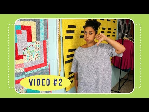 Butterick 6214 Sew Along with Crafty Gemini: Video #2: What NOT to do!
