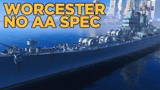 Worcester No AA Skills - World of Warships