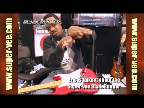 NAMM 2012 - Eric Gales demos the Super-Vee BladeRunner and Mag-Lok